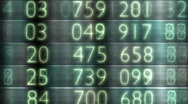 Stock Video Footage of share prices on stock exchange board