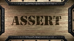 Stock Video Footage of assert on wooden stamp