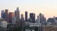 Los Angeles skyline city view WK 08 Stock Footage