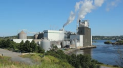 Pulp and Paper mill. Two shots. Stock Footage