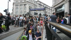 Oxford Circus Station, London - stock footage