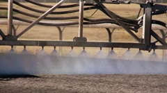 Horse racing track preparation Stock Footage