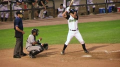 Catcher Drops Ball on Strikeout Stock Footage