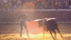 BULLFIGHT MATADOR BULL ARENA Fight 1970s (Vintage Film Home Movie) 486 Stock Footage