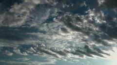 Cloud Tassels Time Lapse Stock Footage