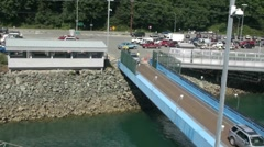Juneau , cars loading on ferry, Stock Footage