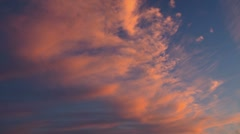 Sunset sky and clouds Stock Footage