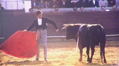 BULLFIGHT MATADOR BULL ARENA Fight 1970s (Vintage Film Home Movie) 476 Stock Footage