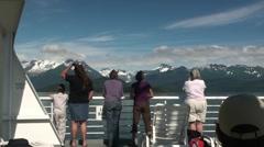 Shipboard travelers Stock Footage