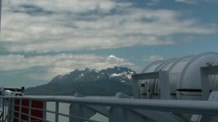 Inside passage, lifeboat Stock Footage