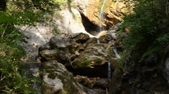 Waterfalls with cave Stock Footage