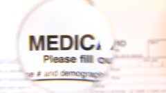 Medical record Stock Footage