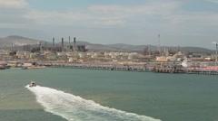 Harbor, pan Stock Footage