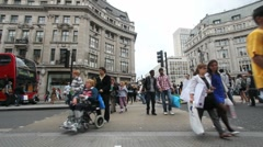 Pedestrians in London Stock Footage