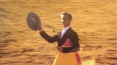 Success Proud Man BULLFIGHT Hero After MATADOR 1970s Vintage Film Home Movie 480 Stock Footage