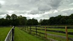 Ohio Horse Farm (Time lapse) Stock Footage