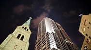 Stock Video Footage of Downtown Cathedral (Time lapse)