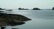 Swedish archipelago Stock Footage