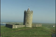 Castle near Doolin, Ireland Stock Footage