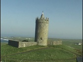 Stock Video Footage of Castle near Doolin, Ireland