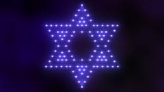 Star of David Lights 01 Stock Footage