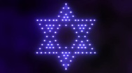 Stock Video Footage of Star of David Lights 01
