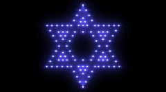 Star of David Lights 01 Transparent Stock Footage