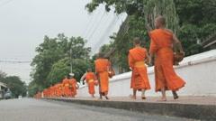 Monks  luang phrabang, Stock Footage