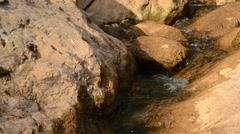 Water running down, small creek Stock Footage