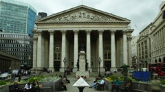 Royal Exchange, London time lapse - stock footage