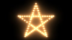 Pentagram Lights 01 Transparent Stock Footage