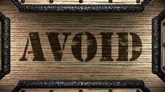 Avoid on wooden stamp Stock Footage