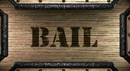 Bail on wooden stamp Stock Footage