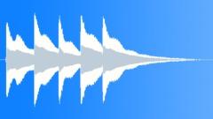 Oriel College clock striking five o'clock. - sound effect
