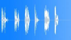 "Medium glass crashes - 1-6 crashes (84G)&(84H) 4"""", 3"""", 4"""", 3"""", 3"""", 3"""""""". - sound effect"