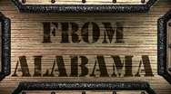 From alabama on wooden stamp Stock Footage