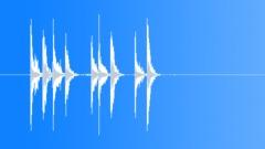 Archery, bow twangs & arrows hitting target. Sound Effect