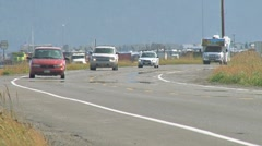 Homer Spit Road Traffic 1 Stock Footage