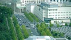 Tilt Shift Brandenburger Tor Berlin Stock Footage