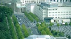 Tilt Shift Brandenburger Tor Berlin - stock footage