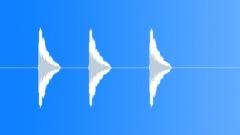 Kolme harmoninen pistot. Äänitehoste