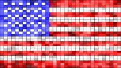 usa flag of shining elements loopable - stock footage