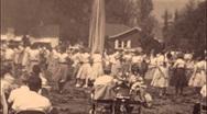 School Girls Dance Around Maypole Rite SPRING 1960s Vintage Film Home Movie 514 Stock Footage
