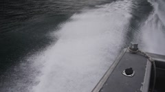 Motorboat wake Stock Footage