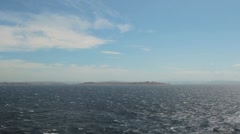 Strait of Bonifacio. Coast 2 Stock Footage