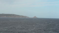Strait of Bonifacio. Coast 4 Stock Footage