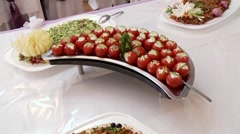 Cold Buffet Stock Footage