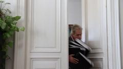 Blunderhead in an office Stock Footage