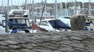 Stock Video Footage of Old Cobbled Quayside