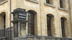 Broad Street Oxford Stock Footage